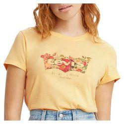 Levi's Womens Flowers Logo Print T-Shirt