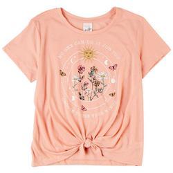Juniors Celest Flower Short Sleeve Top