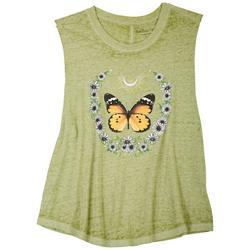 Juniors Butterfly Tank Top