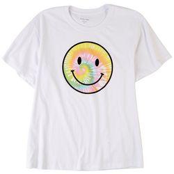Pretty Rebel Juniors Smiley Face Graphic T-Shirt