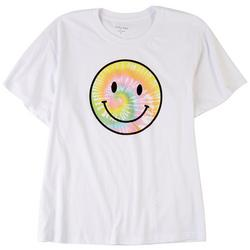 Juniors Smiley Face Graphic T-Shirt