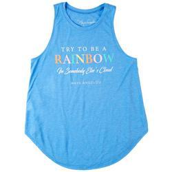 Maya Angelou Juniors Be the Rainbow Tank Top