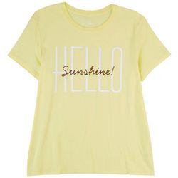 Hybrid Juniors Hello Sunshine Short Sleeve Top