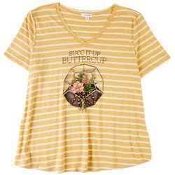 Eyeshadow Womens Succ It Up Buttercup T-Shirt