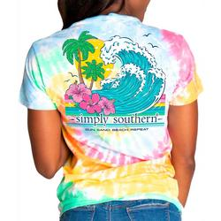 Juniors Waves Tie-Dye T-Shirt