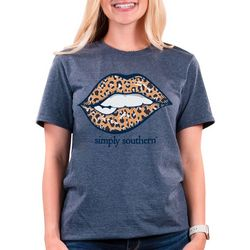 Simply Southern Juniors Leopard Lips T-shirt