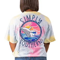 Simply Southern Juniors Tie Dye Whale Graphic T-Shirt