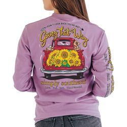 Simply Southern Juniors Going That Way Print Long Sleeve Top