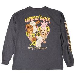 Simply Southern Juniors Country Chick Long Sleeve Top