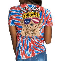 Juniors Americana Pup T-shirt