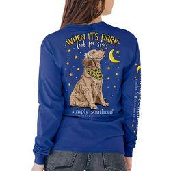 Simply Southern Juniors Look At Stars Print Long Sleeve Top