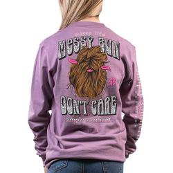 Juniors Don't Care  Long Sleeve Top