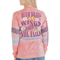 Simply Southern Juniors Tie Dye Brave Long Sleeve Top