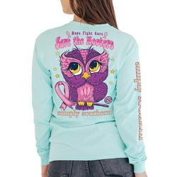 Juniors Save The Hooters Long Sleeve Top