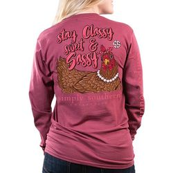 Simply Southern Juniors Stay Classy Long Sleeve Top