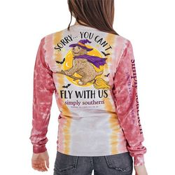 Simply Southern Tie-Dye Can't Fly Long Sleeve Top