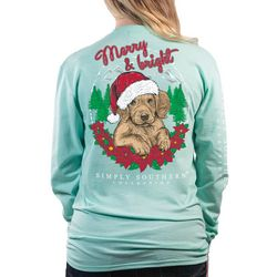 Simply Southern Juniors Merry & Bright Long Sleeve Top