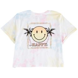 Messy Buns, Lazy Days Juniors Palm Smiley Short Sleeve Top