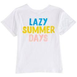 Messy Buns, Lazy Days Juniors Lazy Summer Short Sleeve Top