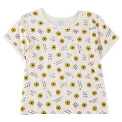 Messy Buns, Lazy Days Juniors Stay Golden T-shirt
