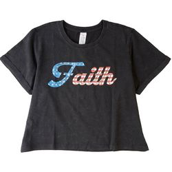 Messy Buns, Lazy Days Juniors Faith Crop T-Shirt