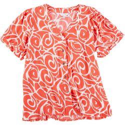Coral Bay Petite Abstract Print Shirt