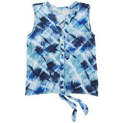 Hailey Lyn Petite Tye-Dye Print Sleeveless Top