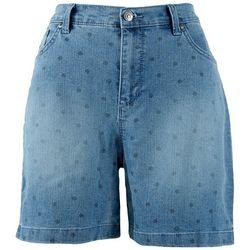 Gloria Vanderbilt Petite Amanda Polka Dot Shorts
