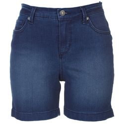 Gloria Vanderbilt Petite Dark Wash Denim Shorts