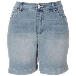 Gloria Vanderbilt Womens Solid Denim Shorts