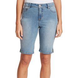 Gloria Vanderbilt Petite Mid-Rise Denim Bermuda Shorts