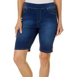 Gloria Vanderbilt Petite Avery Pull On Denim Bermuda Shorts