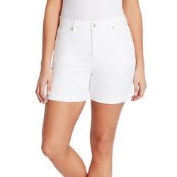 Petite White Denim Shorts