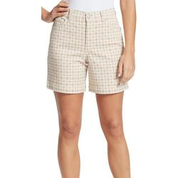 Petite Amanda Plaid Printed Shorts