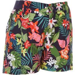 Petite Tropical Hawaiian Shorts