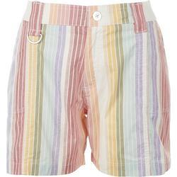 Petite Multi Color Stripes Shorts