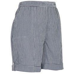 Emily Daniels Petite Checkered Print Pull  On Shorts