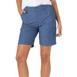 Lee Petite Petite Solid Bermuda Shorts