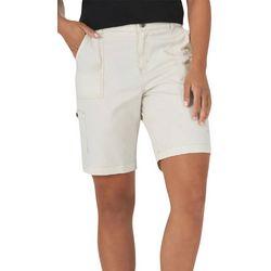Lee Petite Solid Color Bermuda Shorts