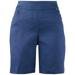 Petite Basic Solid Pocketed Shorts