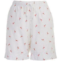 Coral Bay Petite Flamingo Bermuda Shorts