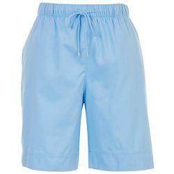 Coral Bay Petite Drawstring Solid Shorts