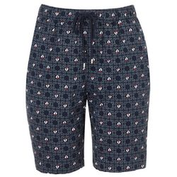 Coral Bay Petite Hearts & Dots Bermuda Shorts