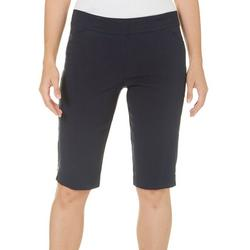 Petite Solid Side Accent Skimmer Shorts