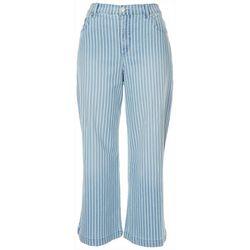 Gloria Vanderbilt Petite Fashion Striped Crop Jeans