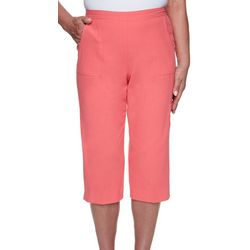 Alfred Dunner Petite Pull-on Solid Capris