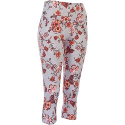 Khakis & Co Petite Striped Flowery Leggings