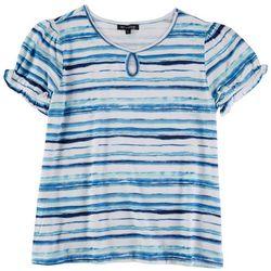 Tint & Shadow Petite Striped Short Sleeve Top