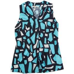 Lynn Ryan Petite Printed Sleeveless Top