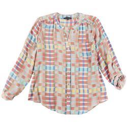 Petite Split Neck Water & Sun Shirt